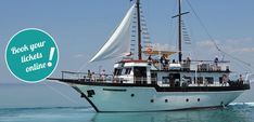 Pirate Tour from Pefkochori Halkidiki Greece Cruise Tickets, Halkidiki Greece, Pirate Games, Tickets Online, Crystal Clear Water, Small Island, Day Tours, Summer Nights, Cruises