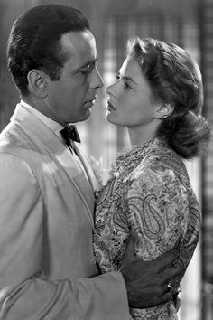 Casablanca, 1942 - Humphrey Bogart and Ingrid Bergman