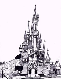 Disney Castle I have drawn for a previous project #illustration #Disney