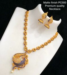 AD Matt Finish Exotic Designer Necklace Order on watsup please 9833920755 Gold Jewellery Design, Gold Jewelry, Jewelery, Etsy Jewelry, Wedding Jewelry, Handmade Jewelry, India Jewelry, Temple Jewellery, South Indian Jewellery