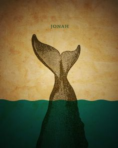 Bible Inspired Poster Designs by Jim LePage. One poster per book in the Bible. Jonah And The Whale, Church Graphic Design, Whale Art, Sea Whale, Biblical Art, Illustrations, Cool Posters, Canvas Prints, Art Prints