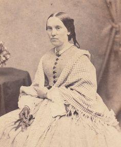CDV Civil War Lady Day Dress Shawl of Boston by LangdonsListPhotos, $4.00