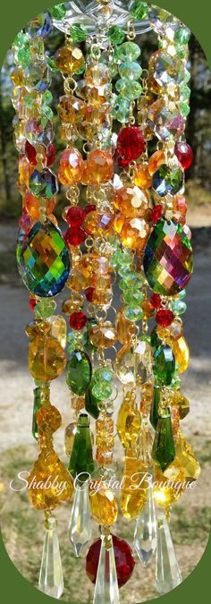 Autumn Bliss Crystal Wind Chime by SCrystalBoutique on Etsy