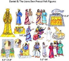 Daniel and the Lions Den Felt Figures for Flannel Board Bible Stories-precut