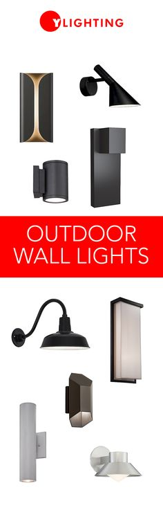 There's no need to sacrifice style for function, these modern outdoor wall lights make the most of their design while simultaneously brightening the exterior of your home. Modern Landscape Lighting, Modern Outdoor Wall Lighting, Entryway Lighting, Outdoor Wall Sconce, Exterior Lighting, Wall Sconce Lighting, Outdoor Walls, Wall Sconces, Modern Entryway