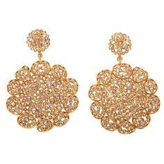 1stdibs | Diamond Flower Earrings