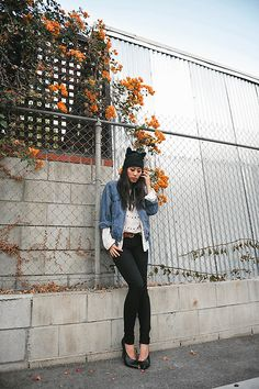 Get this look: http://lb.nu/look/4213707  More looks by Jenny Ong: http://lb.nu/neonblush  Items in this look:  James Jeans Matte Black Skinny Jeans