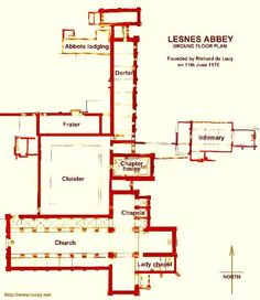 Plan of Lesnes Abbey London Landmarks, Famous Castles, The Shard, Trafalgar Square, London Spring, London Restaurants, Department Store, Pinterest Board, Lodges