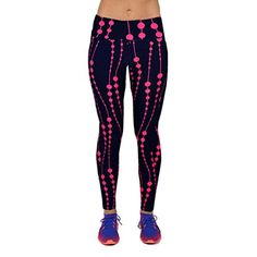 Bolayu Women High Waist Fitness Yoga Sport Pants Printed Stretch Nine Leggings M Hot Pink * Check out this great product. (This is an affiliate link)