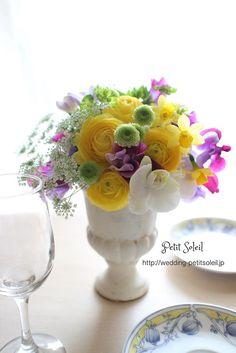 ゲストテーブル装花 wedding flowers
