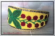 Chokecherry Headband by NorthwestBeadwork (Nez Perce) on Etsy
