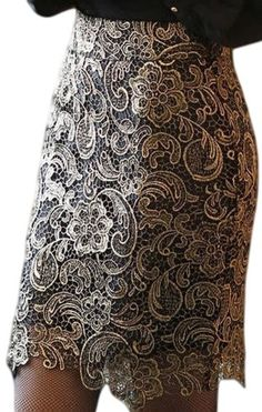 PSEZY Jacquard Lace Skirts