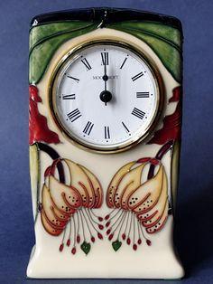 Moorcroft Pottery Anna Lily CL1 Clock Nicola Slaney Open Edition