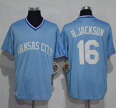Royals #16 Bo Jackson Light Blue Cooperstown Stitched MLB Jersey