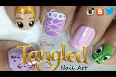 Tangled nails by IHaveACupcake