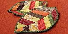 Quilted Leaf Potholders