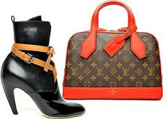 ...  this is actually how the Louis Vuitton shoes and handbags fall/winter 2014-2015 collection is opened and that's how it progresses up to the end. Description from fashionisers.com. I searched for this on bing.com/images