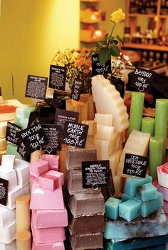 Lush soaps. I'd like to try the Middle Earth one, and the Bamboo.