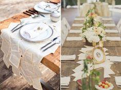 chemin de table mariage avec pages de roman - Chemin De Table Color