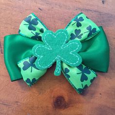 A personal favorite from my Etsy shop https://www.etsy.com/listing/225244096/st-patricks-day-hair-bow