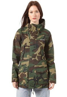 CARHARTT - Womens Battle Parka Jacket camo green