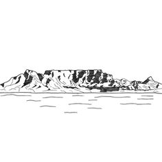 illustration of Table Mountain - Cape Town