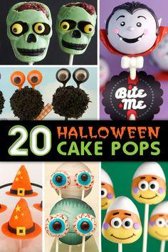 20 Halloween Cake Pops with Tutorials #cakepops #halloween