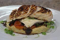 Cityline Chef Jason Parsins Charred chicken, mushroom, apricot, and Brie tart