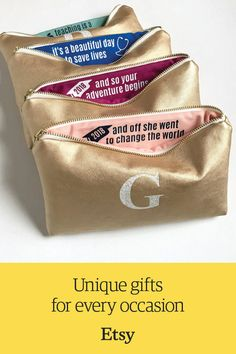 7b6bf735285 Custom bag with monogram   inspirational quote. Discover unique gift ideas  for grads and more on Etsy.