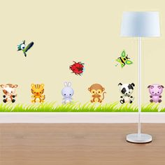 Adesivo Infantil Animais Jardim , Faixas, Border Decorativa e Papel de Parede Infantil e Adesivos