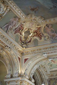The ceiling of New York Café, Budapest, Hungary