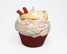 Jumbo Apple Cinnamon Scented Cupcake Candle