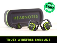 Finally, truly wireFREE earbuds have arrived! HearNotes WireFree Earbuds w/ Kleer technology delivers HI-FI stereo music with NO WIRES!