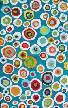 """candice ashment art: Circles, Circles, Circles... My glue batik """"Designer"""" Pillow"""