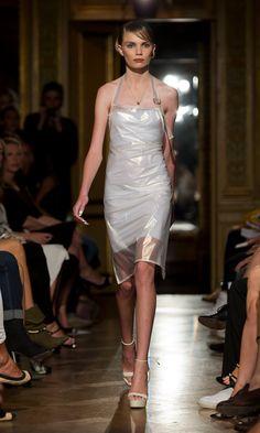 Hernández Cornet -- s/s 2013 (pearl PVC apron dress)  __   Image credits Kristian Löveborg