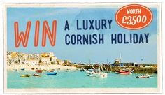Cornwall is a beuatiful county in the UK and you can Win A Luxury Cornish Holiday by visiting http://www.walksandwalking.com