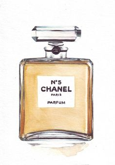 Coco Chanel no5 - #watercolor #illustration #Perfume