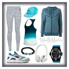 """""""Ladies Fitness Apparel"""" by mauricee-brewer on Polyvore featuring NIKE, Beats by Dr. Dre and G-Shock"""