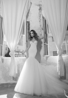 Style no. 14406 Pnina Tornai fit and flare dress with embellished neckline lOVE THAT FABRIC!❤️