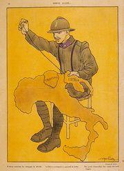 Immagine di propaganda del Regio Esercito Italiano, Prima guerra mondiale.