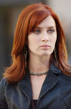Emily blunt - Actress. I always thought that she was beautiful, but I was floored when I saw her as a red-head on Devil Wears Prada. Simply stunning.