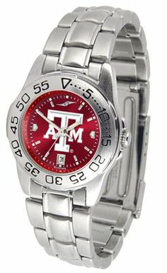 Texas A&m University Aggies Sport Steel Band Ano-chrome - Ladies - Women's College Watches by Sports Memorabilia. $59.95. Makes a Great Gift!. Texas A&m University Aggies Sport Steel Band Ano-chrome - Ladies