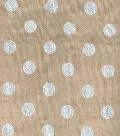 Silver polka dots on #burlap. Perfect! #fabric