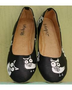 black color almond toe ballerinas shoes styletag