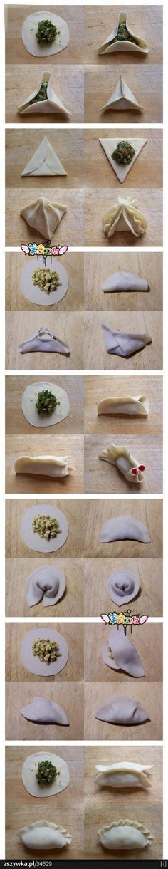 How to wrap dumplings.