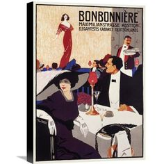 Global Gallery 'Bonbonnerie' by Ludwig L. Ehrenberger Vintage Advertisement on Wrapped Canvas Size: