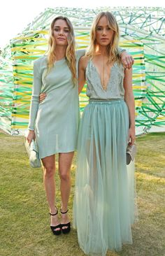 Immy Waterhouse and Suki Waterhouse in a Valentino dress. Sisters do it best!