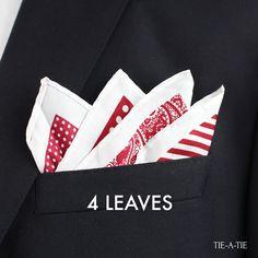 4 Leaves up pocket square fold