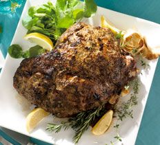 Roast Leg of Lamb with Garlic, Lemon and Herbs