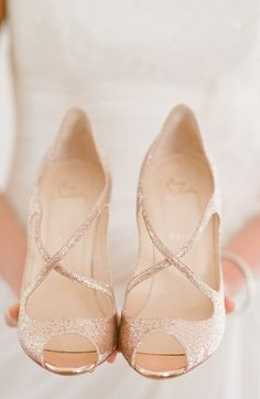 Louboutins; reason for pinning was I thought it was a great neural color but still caught attention from the sparkles.